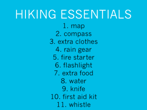 Dr Berardi's hiking list